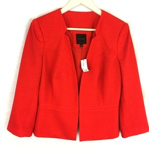 The Limited Red Cropped 3/4 Sleeve Blazer Jacket L